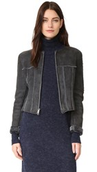 Wgaca Chanel Crop Jacket Previously Owned Grey