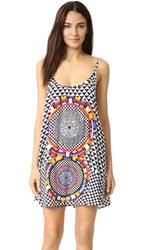 Red Carter Pop Culture Cover Up Dress Black Multi