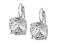 Kate Spade Small Square Leverbacks Clear Silver Earring
