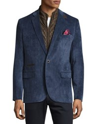 English Laundry Corduroy Quilted Combo Blazer Slate