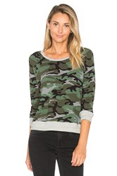 Sundry Crop Pullover Green