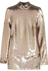 Tom Ford Sequined Chiffon Tunic Gold