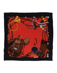 Ralph Lauren Square Scarves Red