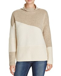 French Connection Color Block Sweater Classic Cream