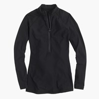 J.Crew Solid Long Sleeve Rash Guard Black