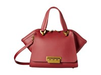 Zac Posen Eartha Iconic Small Double Handle Cardinal Top Handle Handbags Red