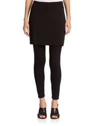 Eileen Fisher Jersey Skirted Ankle Leggings Black