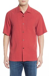 Tommy Bahama Men's 'Java Dobby' Original Fit Silk Camp Shirt Red Earth