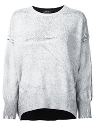 Avant Toi Metallic Effect Jumper White