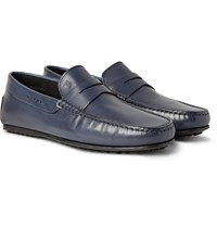 Tod's City Gommino Leather Loafers Storm Blue