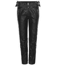 Isabel Marant Faux Leather Trousers Black
