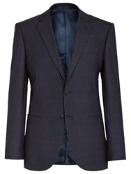 Reiss Judge Check Wool Modern Fit Suit Jacket Navy