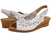 Spring Step Orella White Leather Women's Wedge Shoes