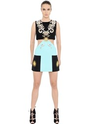 Fausto Puglisi Swarovski Crystals Wool Crepe Dress