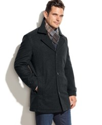 London Fog Big And Tall Classic Car Coat Officer Navy