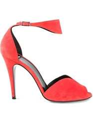 Pierre Hardy Peep Toe Sandals Red