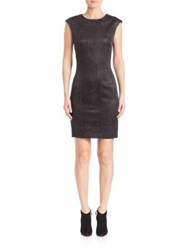 Josie Natori Crinkle V Back Dress Black