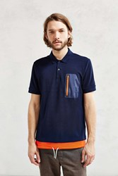 Lacoste Live Nylon Pocket Tee Navy