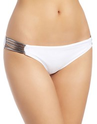 Luxe By Lisa Vogel Side Panel Bikini Bottom White