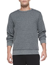 Theory Danen Waffle Knit Shirt Charcoal Grey Women's