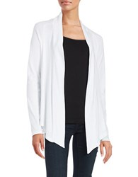 Splendid Open Front Cardigan White