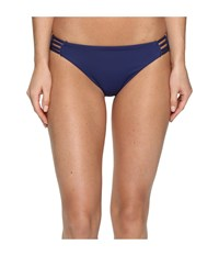 Roxy Strappy Love Reversible 70'S Bikini Bottom Marine Women's Swimwear Blue