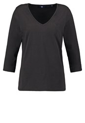 Gant Long Sleeved Top Black