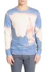 Sol Angeles 'Sea To Sail' Print Crewneck Sweatshirt Blue
