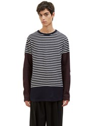 Marni Contrast Striped Sweater Navy