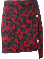 Versus Camouflage Fitted Skirt Black