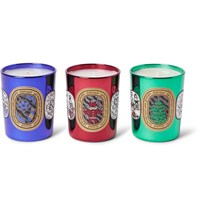 Diptyque Holiday Scented Candle Set 3 X 70G Blue