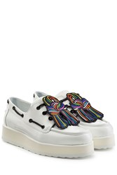 Pierre Hardy Patent Leather Platform Creepers White
