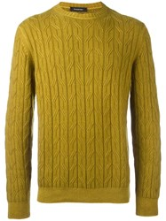 Ermenegildo Zegna Round Neck Jumper Yellow Orange