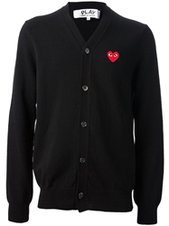 Comme Des Garcons Play Button Fastening Cardigan Black