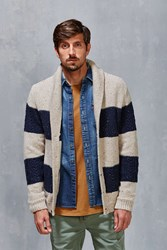 Cpo Brookline Aran Shawl Cardigan Cream