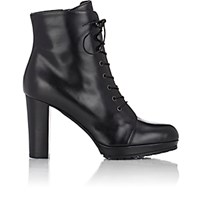 Barneys New York Women's Lace Up Platform Ankle Boots Black Blue Black Blue