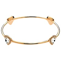 Finesse Trilliant Swarovski Crystal Bangle Rose Gold