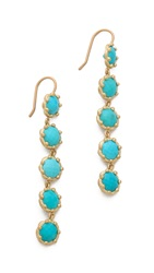 Jamie Wolf Tiered Turquoise Earrings Gold