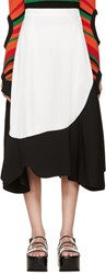 Toga Black And White Asymmetrical Skirt