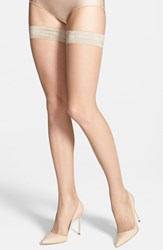 Women's Oroblu 'Bas Tricot' Fishnet Stay Up Stockings Sable Natural