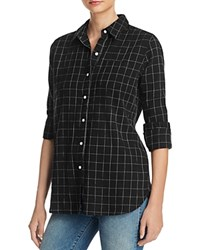 Birds Of Paradis Classic Plaid Shirt Black White Windowpane