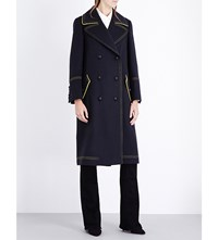 Burberry Military Double Breasted Wool Coat Ink