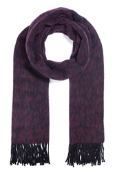 The Kooples Wool Jacquard Leopard Print Scarf