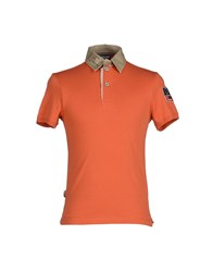 Blauer Topwear Polo Shirts Men Rust