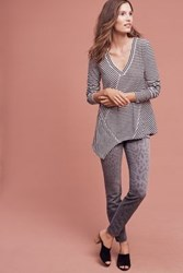 Anthropologie Current Elliott Stiletto Mid Rise Skinny Jeans Grey Motif
