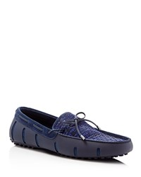 Swims Woven Braided Lace Loafers Navy Fade