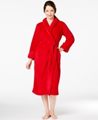 Charter Club Petite Supersoft Long Robe Candy Red
