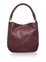Pieces Fig Leather Hobo Bag Purple
