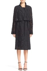 Tracy Reese Lace Trench Coat Black