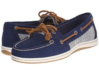 Sperry Firefish Cross Hatch Canvas Navy Multi Women's Lace Up Casual Shoes Blue